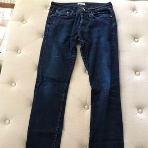 Unbranded style 222 dark wash denim jeans